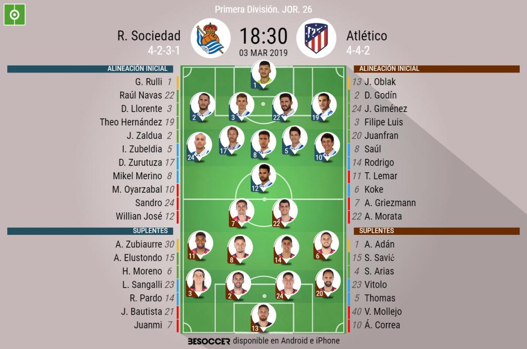 Atlético Madrid vs. Real Sociedad: Álvaro Morata marcó doblete en dos minutos