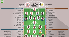 Alineaciones confirmadas del Nigeria-Sudáfrica. BeSoccer
