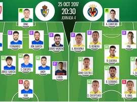 Les compos officielles du match de Coupe du Roi entre Ponferradina et Villarreal. BeSoccer