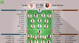 Onces confirmados del Sevilla-Rennes. BeSoccer