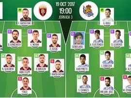 Alineaciones confirmadas del Vardar Skopje-Real Sociedad de la Europa League 2017-18. BeSoccer