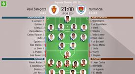 Onces del Zaragoza-Numancia. BeSoccer