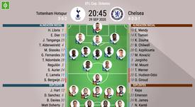 Les compos officielles du match d'EFL Cup entre Tottenham et Chelsea. Besoccer