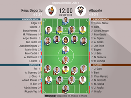 Alineaciones confirmadas para el Reus-Albacete. BeSoccer