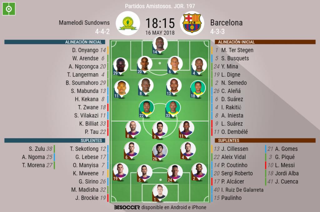 Barcelona vs. Mamelodi Sundowns: Dembélé anotó golazo de zurda