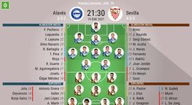 Onces del Alavés-Sevilla de la jornada 19 de Primera. BeSoccer