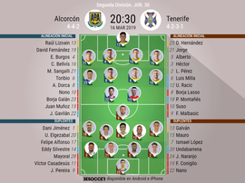 Onces confirmados de Alcorcón y Tenerife. BeSoccer