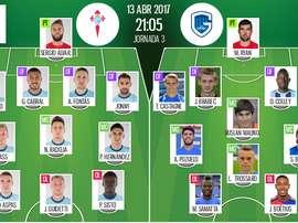 Les compos officielles du match de C3 entre le Celta Vigo et Genk. BeSoccer