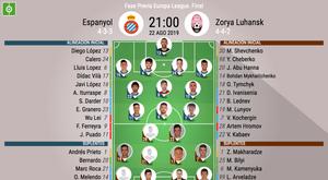 Así jugarán Espanyol y Zorya. BeSoccer