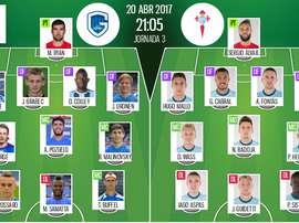 Les compos officielles du match de C3 entre Genk et le Celta Vigo. BeSoccer