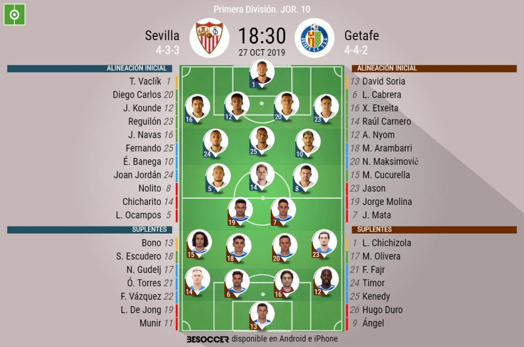 Chicharito marca su primer tanto en la Liga con el Sevilla