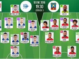 Alineaciones del Alavés-Formentera de la vuelta de los octavos de Copa del Rey. BeSoccer
