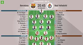 Formazioni ufficiali Barcellona-Valladolid. BeSoccer