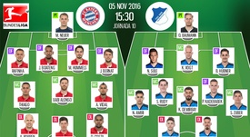 Bernat es novedad en el partido de la Bundesliga. AFP