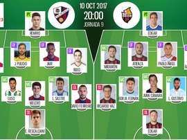 Alineaciones del encuentro de Segunda División Huesca-Reus. BeSoccer