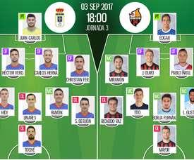 Alineaciones del encuentro de Segunda División Oviedo-Reus. BeSoccer
