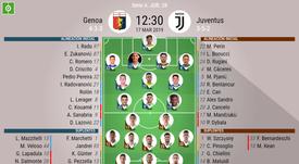 Alineaciones del Genoa-Juventus. AFP