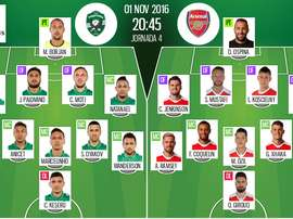 The official line-up. BeSoccer