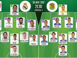 Les compos officielles du match de Coupe du Roi entre le Real Madrid et Fuenlabrada. BeSoccer