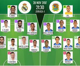 Escalações do Real Madrid-Fuenlabrada. BeSoccer
