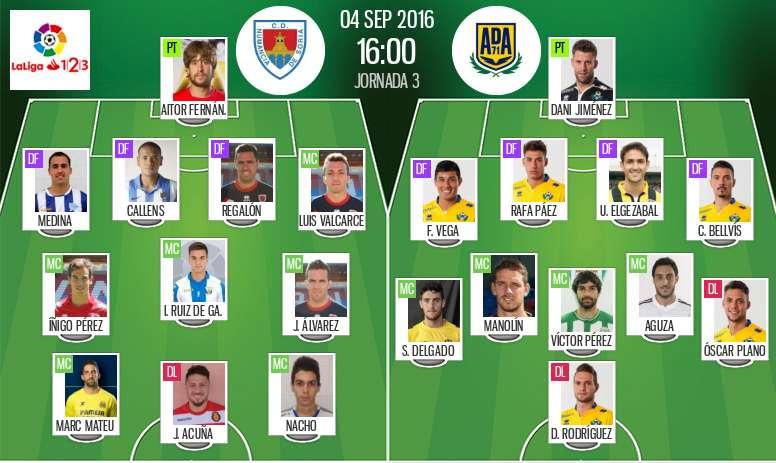 Alineaciones del Numancia y el Alcorcón en la Jornada 3 de Segunda División. BeSoccer