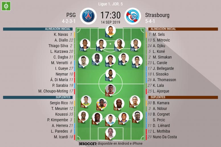 Sigue el directo del PSG-Estrasburgo. AFP