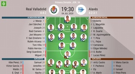 Onces del Valladolid-Alavés de la jornada 34 de Primera. BeSoccer