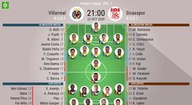 Onces del Villarreal-Sivasspor de la Europa League. BeSoccer