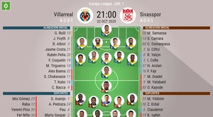 Onces del Villarreal-Sivasspor de la Europa League. BeSoccer