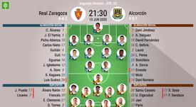 Alineaciones del Zaragoza-Alcorcón. BeSoccer