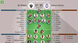Atlético Mineiro parte con ventaja en su duelo frente a Defensor Sporting. EFE