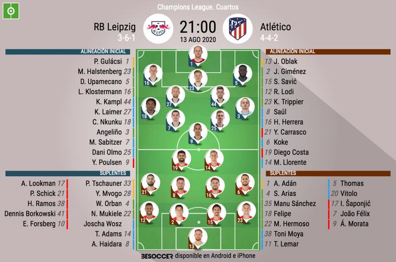 Atlético o RB Leipzig, rival del PSG en semifinales. AFP