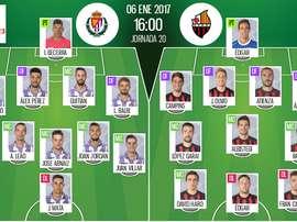 Alineaciones oficiales de Real Valladolid y Reus, partido correspondiente a la jornada 20 de Segunda. BeSoccer