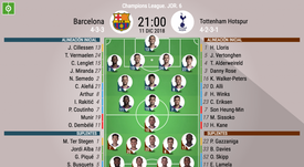 Onces oficiales. BeSoccer