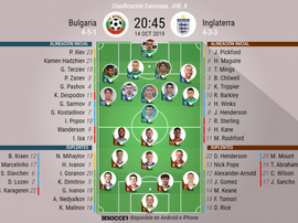 Onces del Bulgaria-Inglaterra. BeSoccer