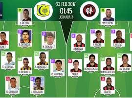 Alineaciones oficiales del Deportivo Capiatá-Atlético Paranaense de la Copa Libertadores. BeSoccer