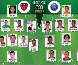 Alineaciones del Dijon-PSG. BeSoccer