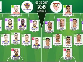 Alineaciones oficiales del Maribor-Sevilla de la Champions League 2017-18. BeSoccer