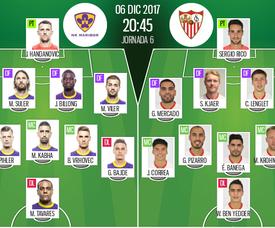 As escalações de Maribor e Sevilla para esta partida. BeSoccer