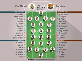 Le formazioni ufficiali di Real Madrid-Barcellona. BeSoccer