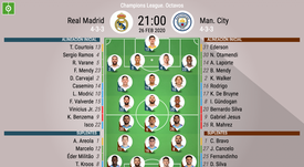 Onces oficiales del Madrid-City. BeSoccer