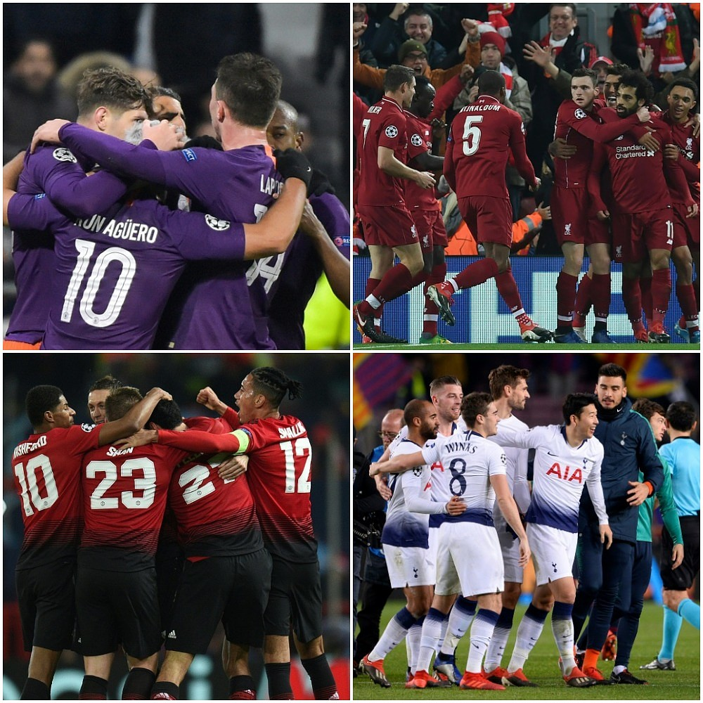 All four English clubs will bid for glory as the Champions League intensifies. MONTAGE  BESOCCER