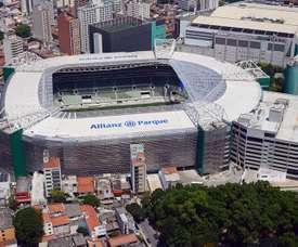 Escalações oficiais de Palmeiras e Guaraní- PAR pela Libertadores 2020. Twitter @MarceCulotta