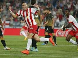 Almería y Elche se midieron en segunda ronda de la Copa del Rey. En la imagen, un partido de 2013 entre ambos equipos. Twitter