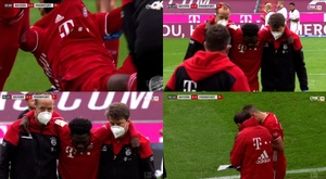 Inquiétante blessure d'Alphonso Davies contre Francfort. Captures/FOXSports