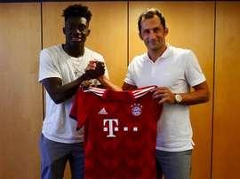 Le Canadien rejoindra le Bayern en novembre. Twitter/FCBayernES
