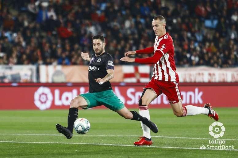 Petrovic ha estallado tras la última derrota del Almería. LaLiga/Archivo
