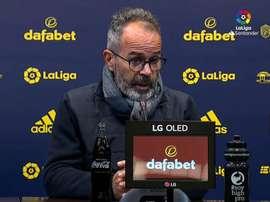 Cervera analizó el empate con el Levante. Captura/LaLiga