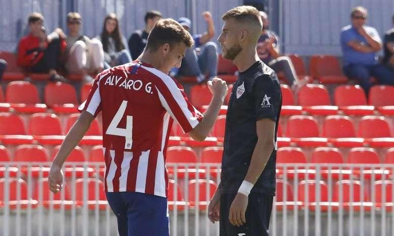 El Atlético B pasa por encima del Sanse. Twitter/AtletiAcademia