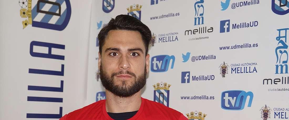 Alvaro jugó la pasada temporada en el Melilla, pero la próxima lo hará en El Ejido. UDMelilla